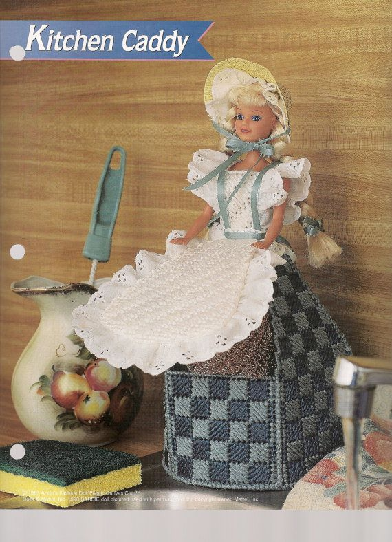 Fashion Doll Kitchen Caddy Plastic Canvas Pattern