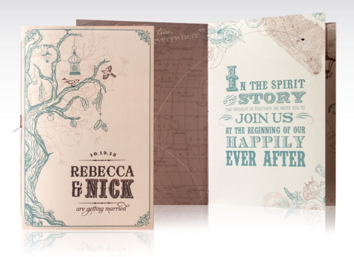 Vintage romantic storybook invitation for an offbeat wedding. Credit ...