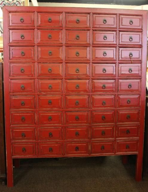 Superb Photo: Huge Red Apothecary $1295.00 Large Apothecary Cabinet Painted A |  Furniture | Pinterest | Apothecary Cabinet, Apothecaries And Paint Furniture