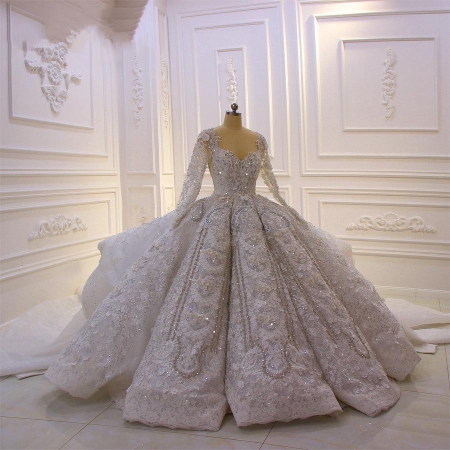 Photo of ALANA ROSE – Crystal 3D Flower Royal Wedding Dress