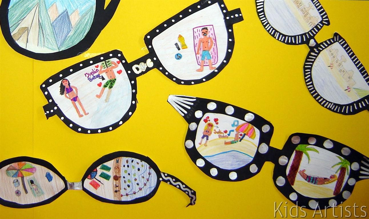 Sunglasses | Art for kids, Art classroom