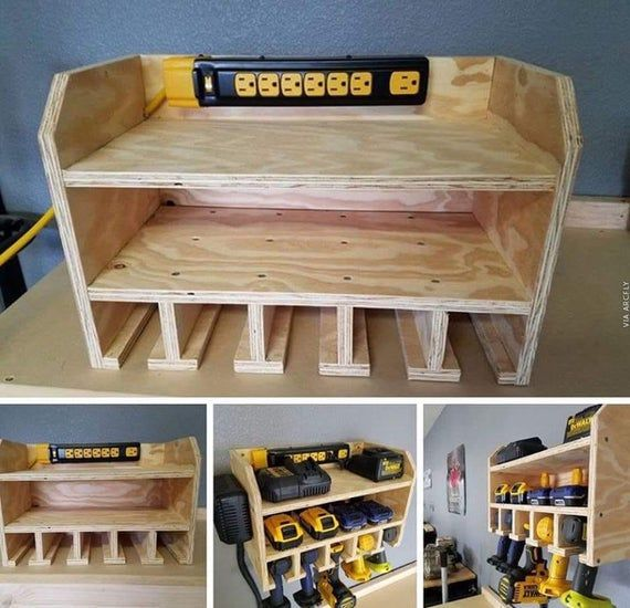 Photo of Storage / charging station for drills, drivers, other battery powered devices