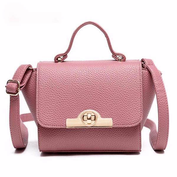 Womens Leather Crossbody Bag Shoulder Purse Small Handbag Pink Wings