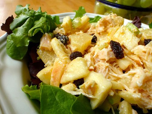 recipe: chicken curry party salad [16]