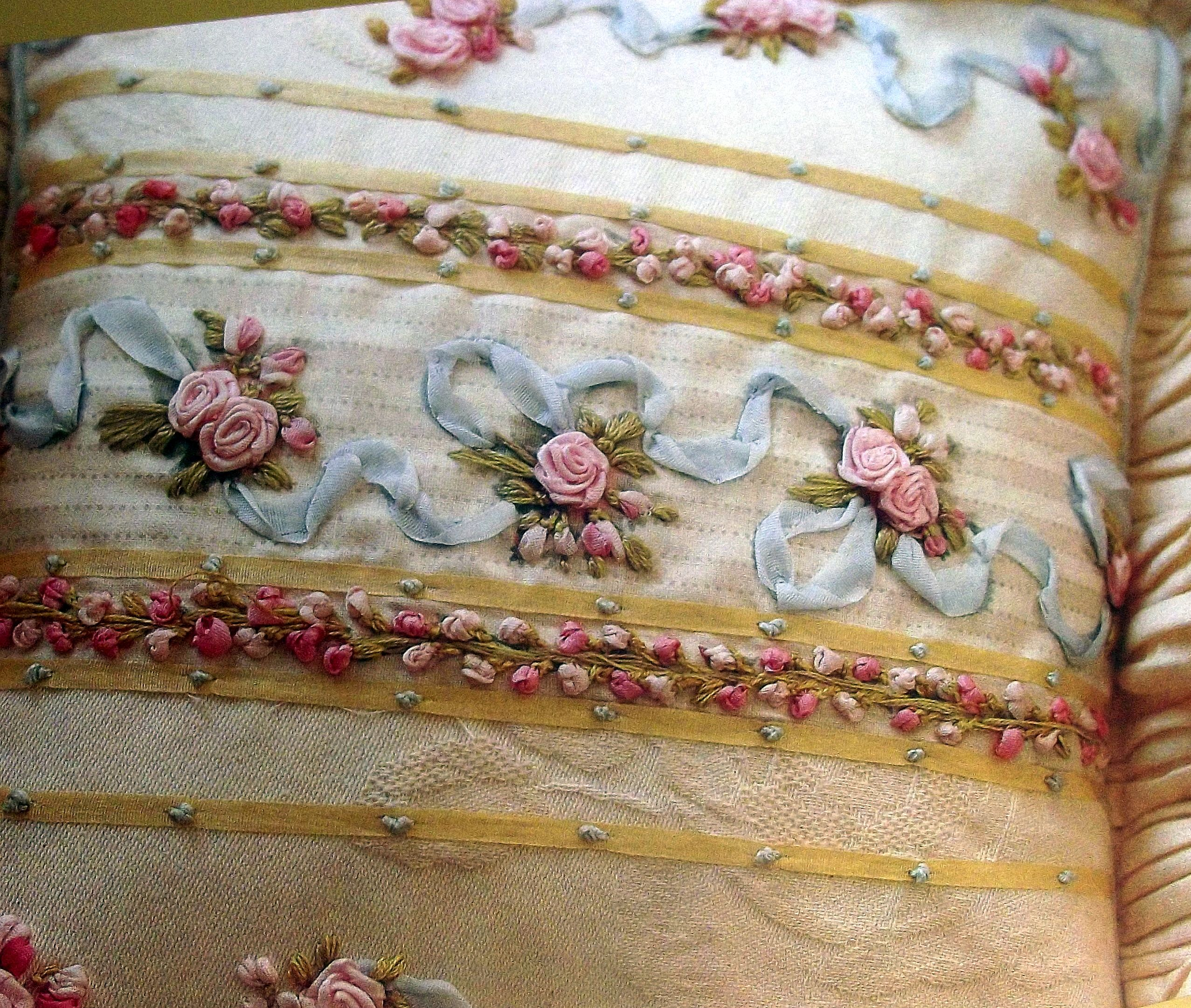 Ribbon embroidery bedspread designs - A Kaye Pyke Design