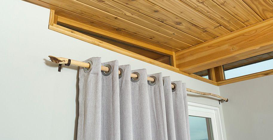 Driftwood Curtain Rod Tiny House Nation Tiny House Blog