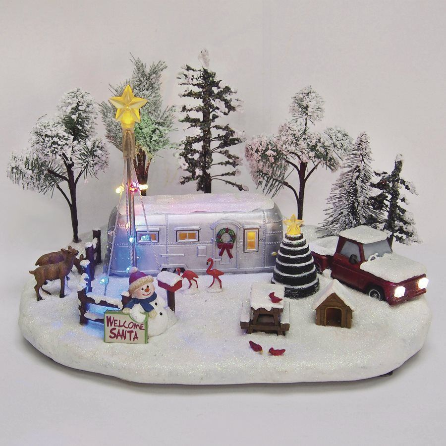 shop carole towne resin led musical christmas christmas winter trailer collectible at lowes canada find our selection of indoor christmas decorations at - Lowes Christmas Village