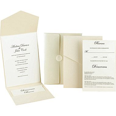 Great Papers Pearl Shimmer Pocket Invitation Kit Staples