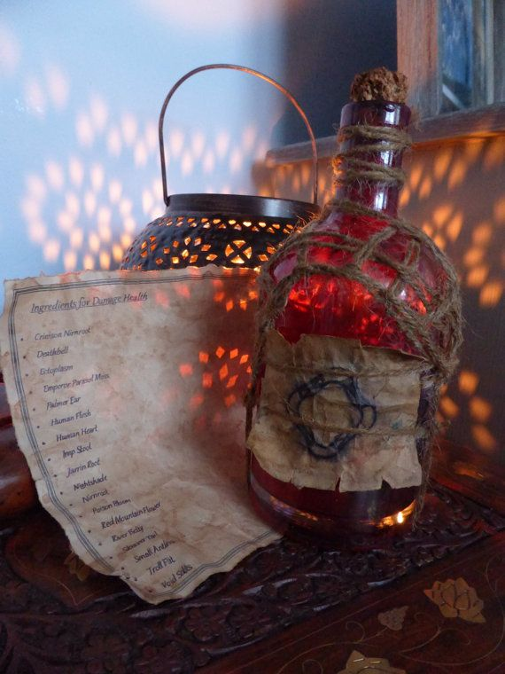 Skyrim Inspired Potion of Damage Health with by KateMurrays, £7.00