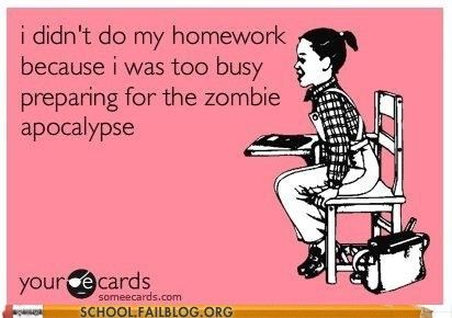 Didn't do my homework because