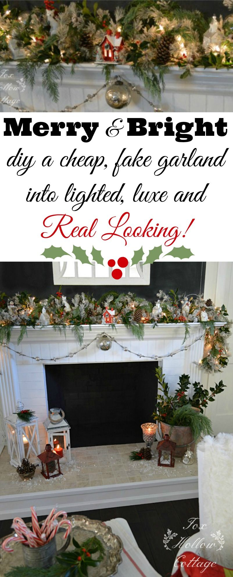 a merry christmas mantel garlands free and holidays