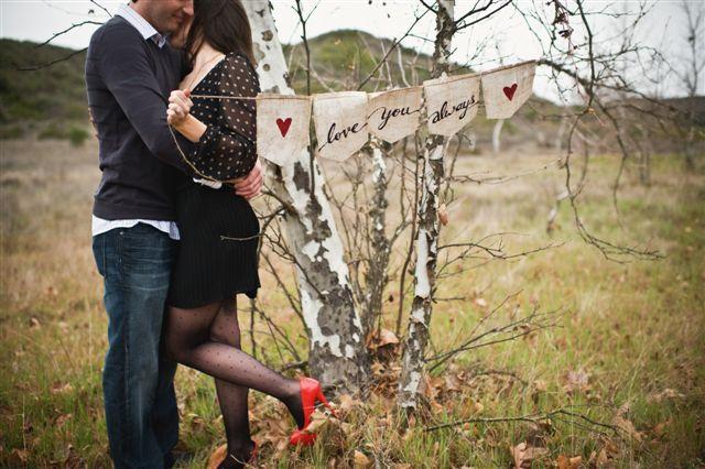 Engagement session props