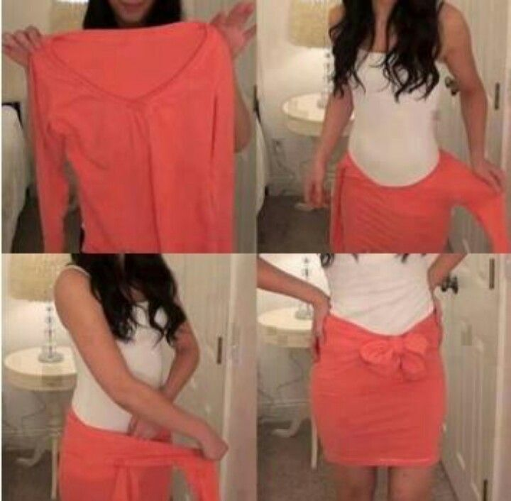Turn a shirt into a skirt!