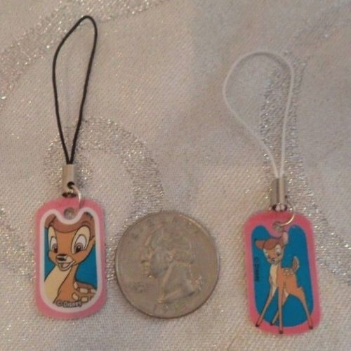 Disney-Pink-Bambi-Miniature-Dog-tag-Dangle-Charm-Key-chains-Purse-Gift-Party