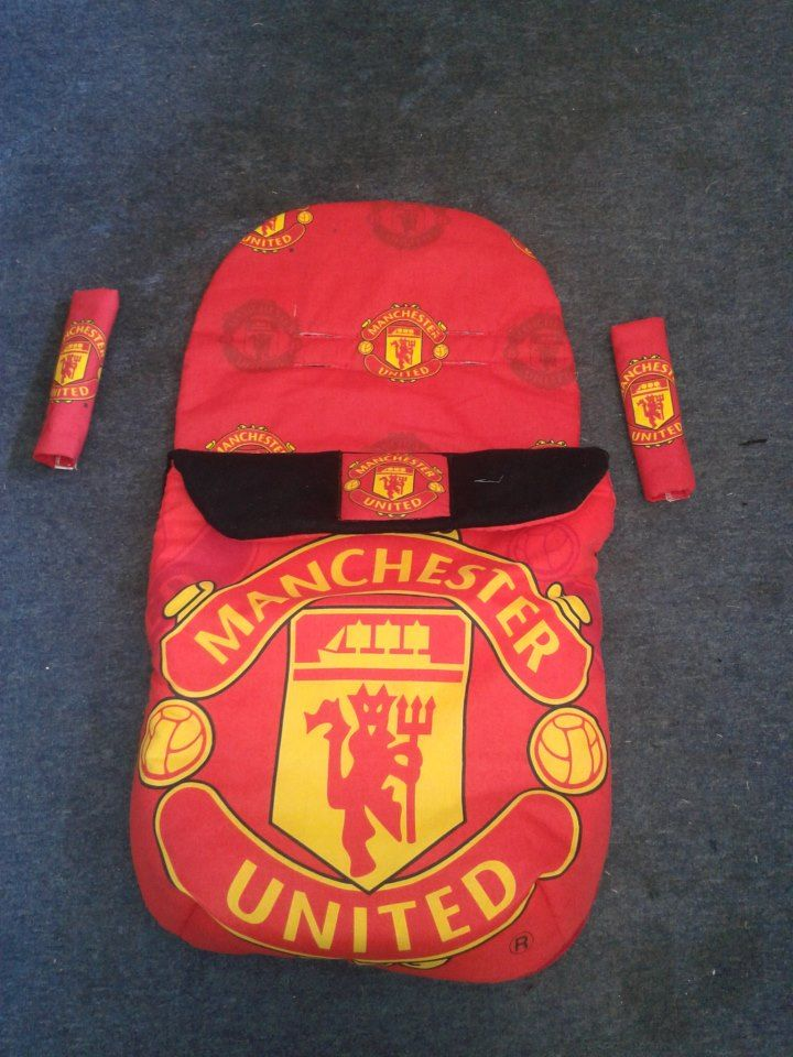 b062731748 Another pram set Manchester united lined in black fleece fabric zip on cosy  toes and harness pads £40 posted look at pimp my pushchair on facebook