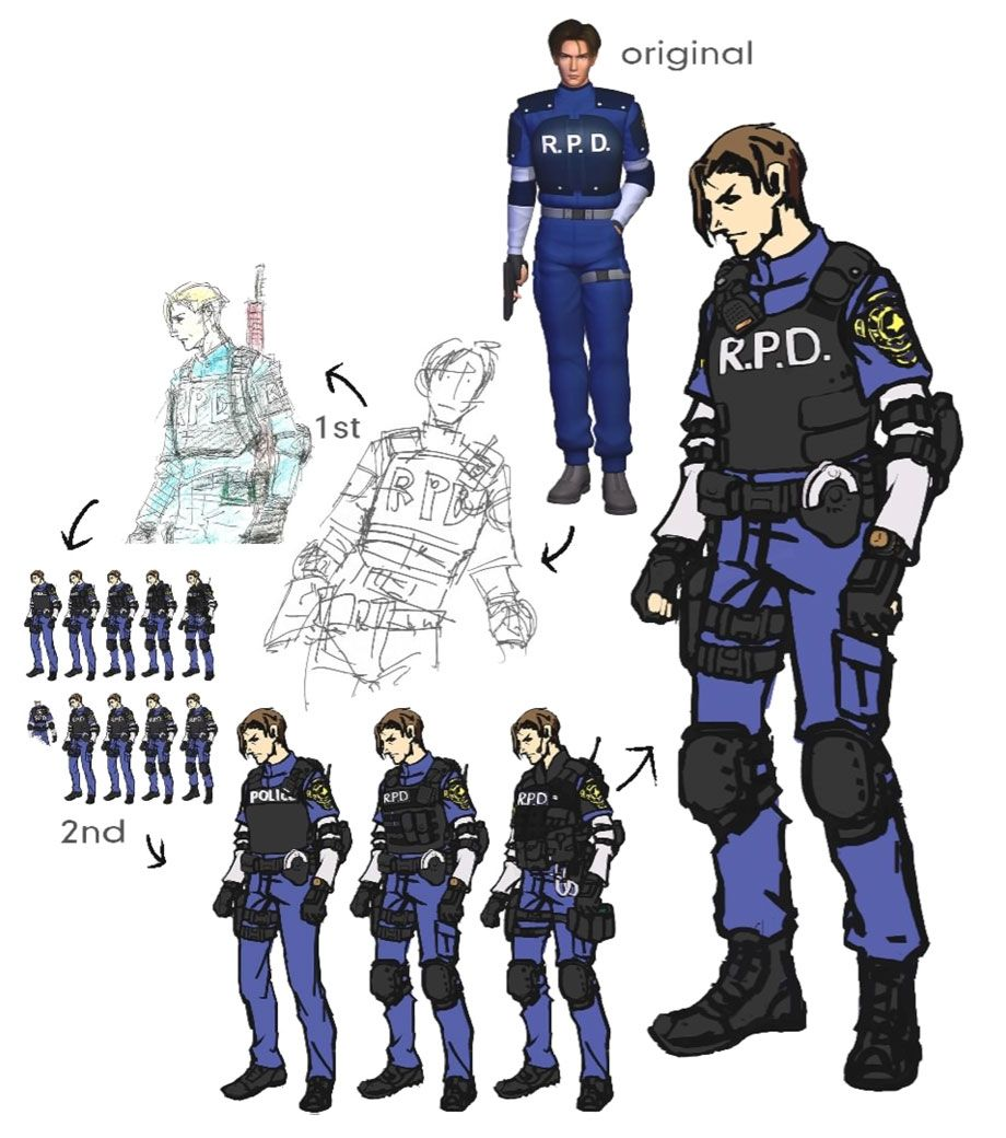 Leon S Kennedy Concept Artwork From Resident Evil 2 2019 Art