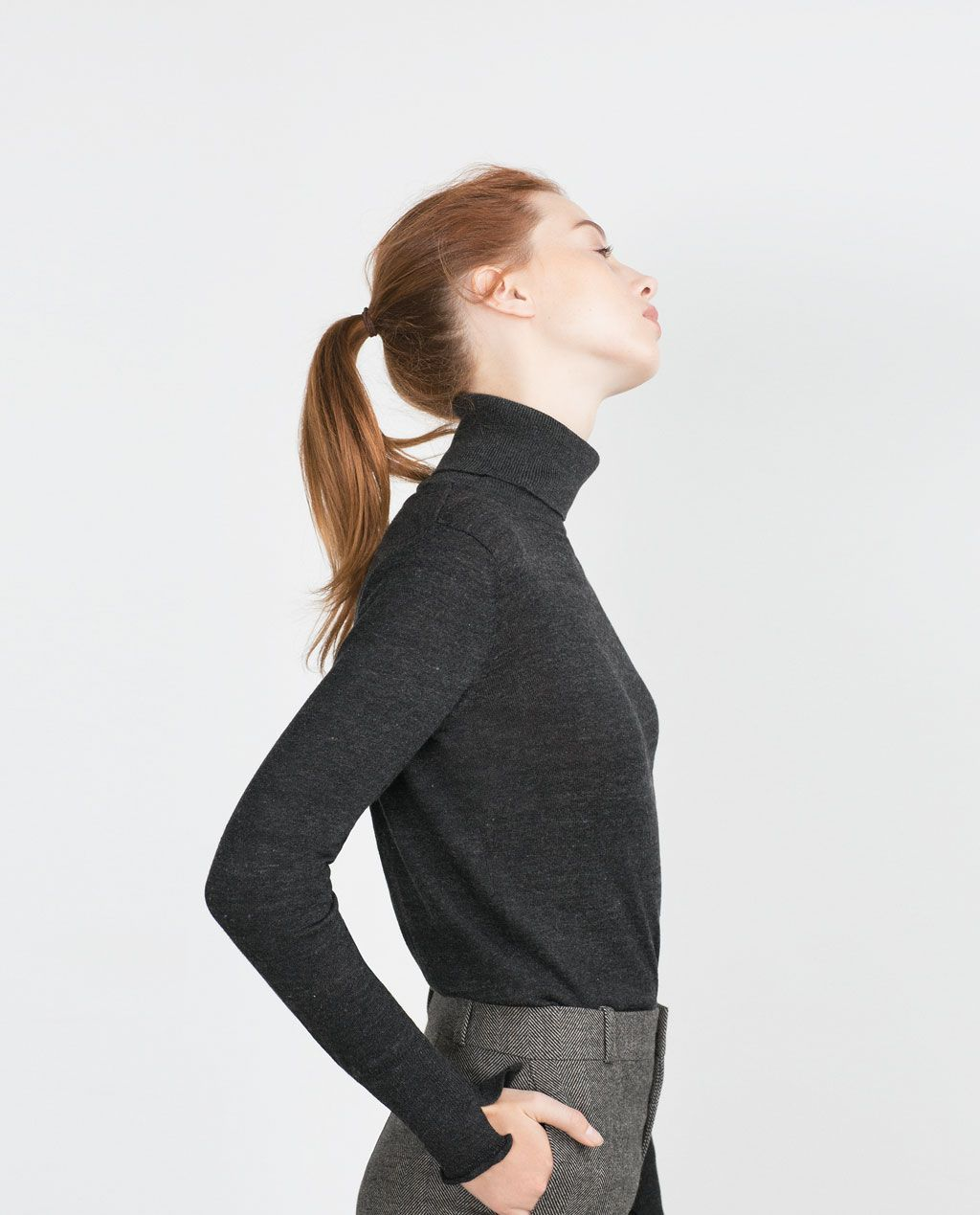 d46fb43e HIGH NECK SWEATER-Turtlenecks-Knitwear-WOMAN | ZARA United States ...