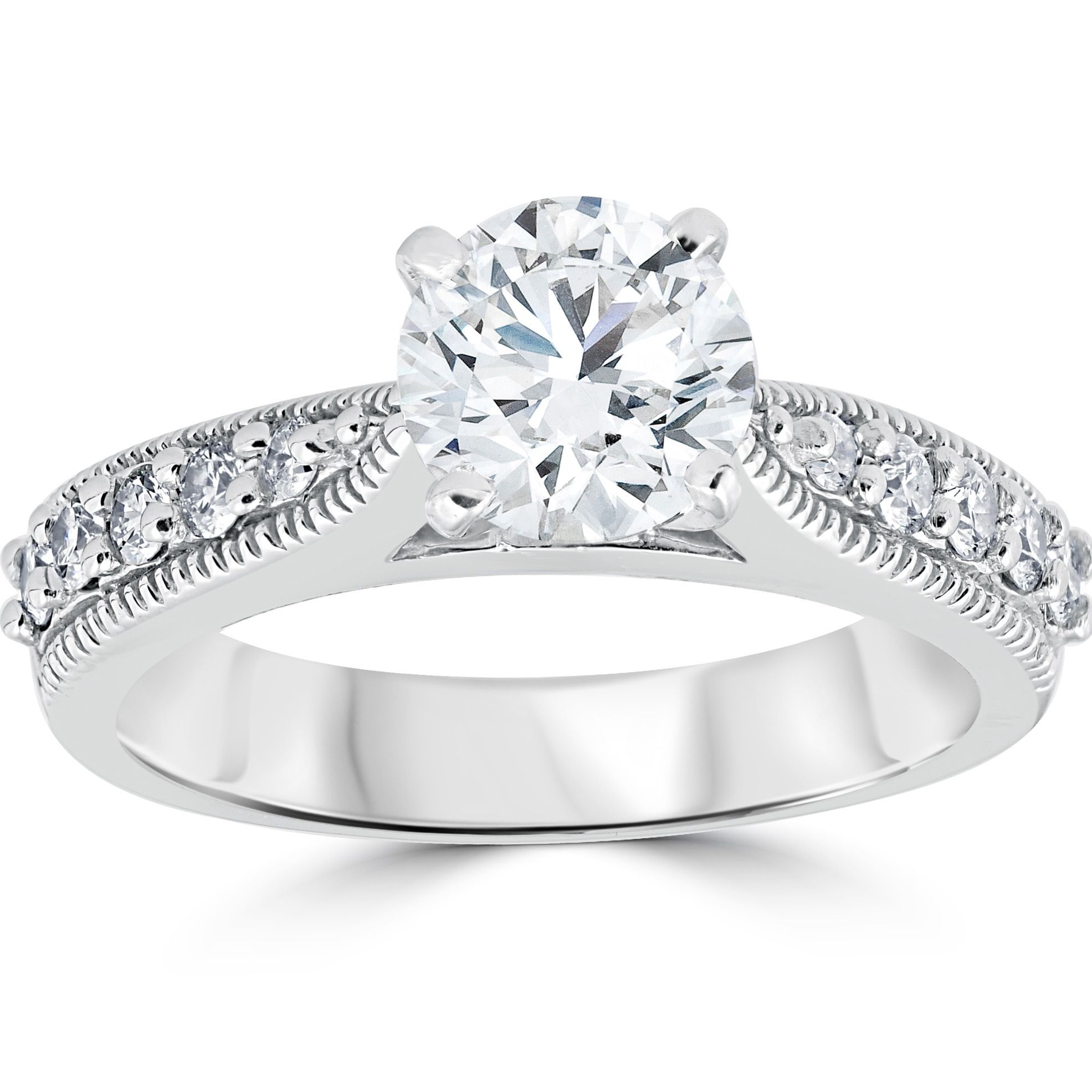 bliss 14k white gold 1 7 8 ct diamond clarity enhanced engagement