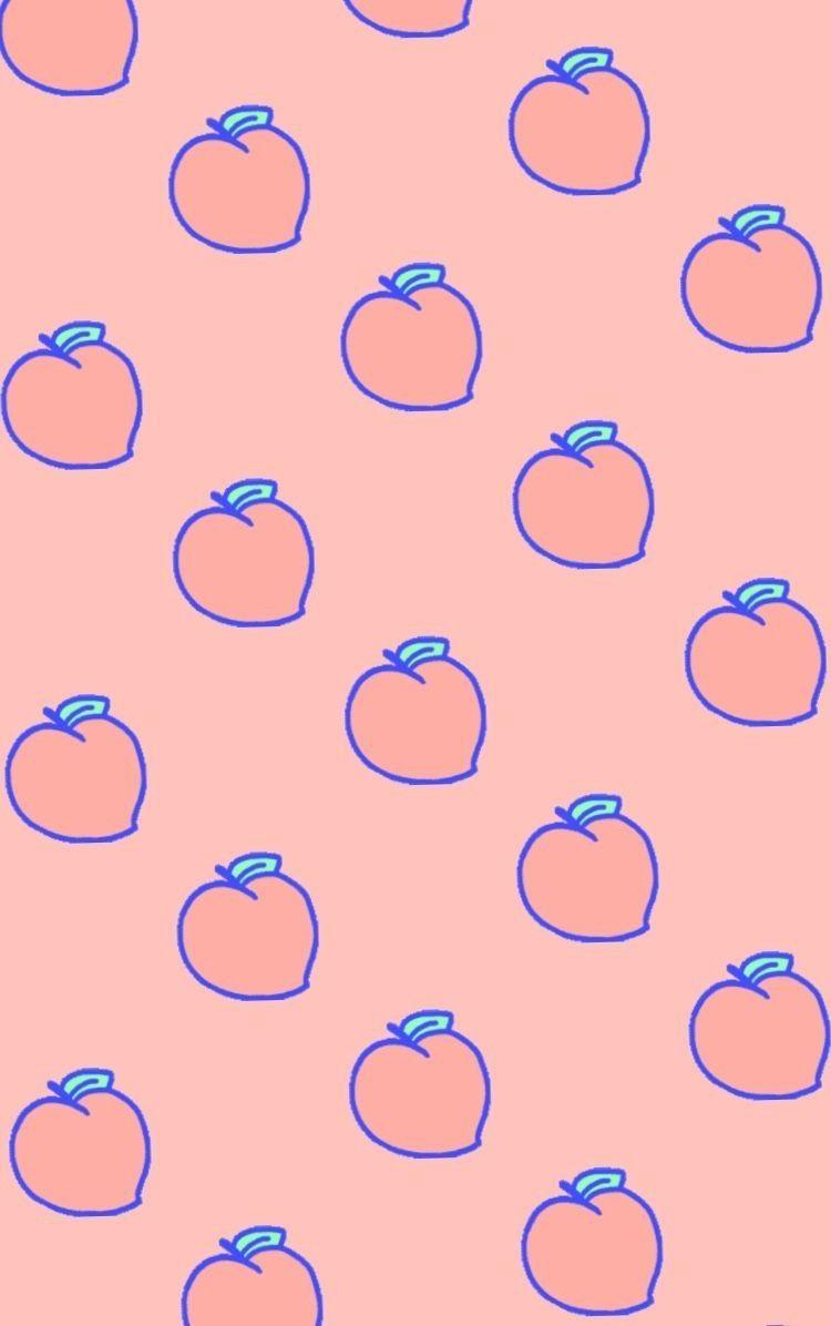 Peach wallpaper by Hailey Kessler on Color Spectrum