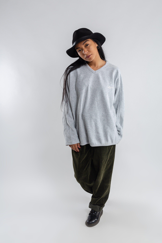 adffdc18a35 Vintage Reebok fleece sweatshirt / Women's Reebok V-neck sweater / 90s  Reebok jumper / Gray Reebok sweatshirt / Gray Men's sweater / Size XL by  LHITW on ...