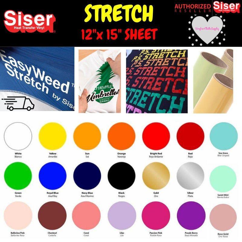 Siser Easyweed Stretch 12 X 15 1 Sheet Pack Etsy Siser Easyweed Htv Vinyl Heat Transfer Vinyl