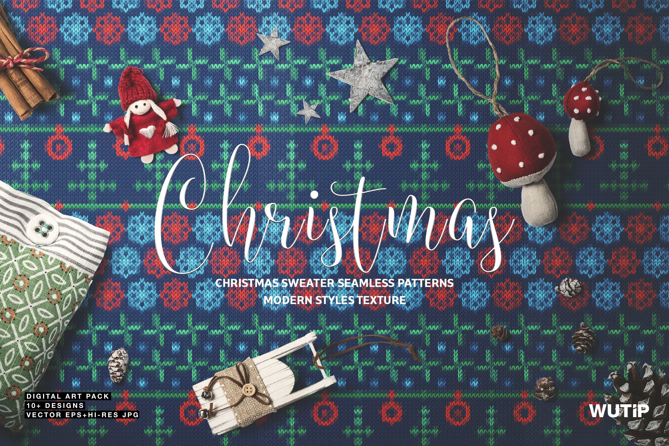 Christmas Sweater Seamless Patterns 16 Trendy & Effective ...