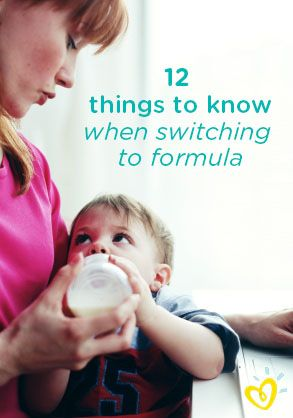switching Breast from feeding formula