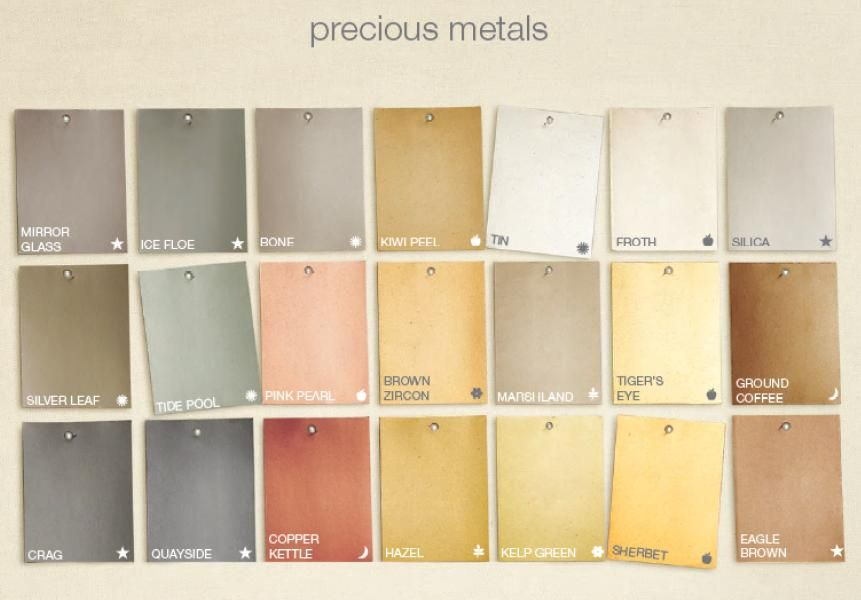 Martha Stewart Metallic Paint Color Chart Google Search Home
