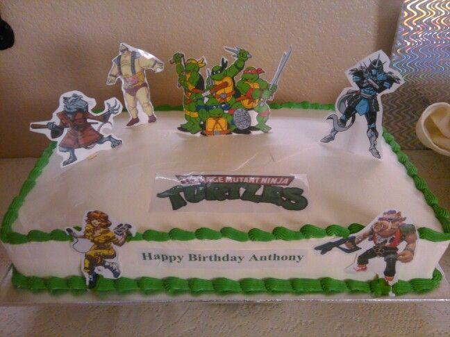 Ninja turtles 1/4 sheet cake. | My birthday cake, Happy ...