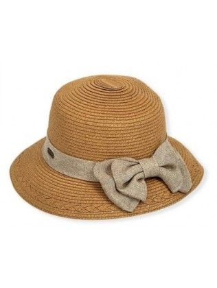 7b1561b94fccc0 Sun N Sand Gia Straw hat with Bow-Natural,Black or Tan stylish golf ...