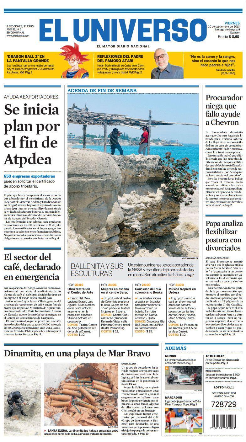 Portada De Diarioeluniverso De Este Viernes 20 De Septiembre Del 2013 Las Noticias Del Día En Www Eluniverso Com Hiking Boots