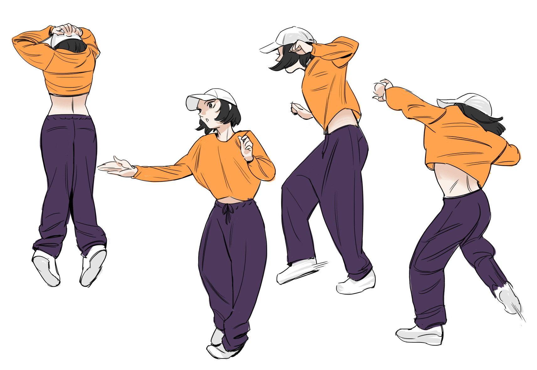Dancing Figures Anime Character Dancing Drawings Dancing Figures Art Poses
