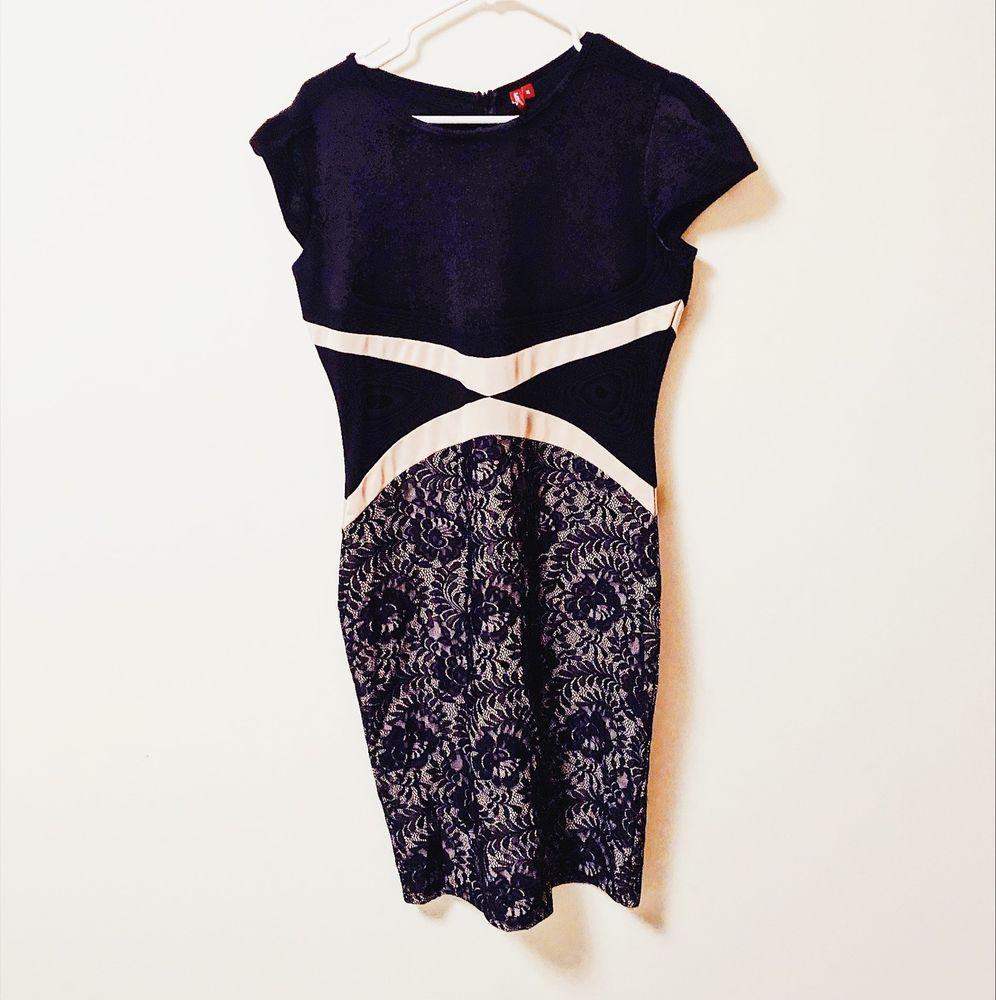 Miusol Womens Party Black Cream Lace Dress Xl Miusol