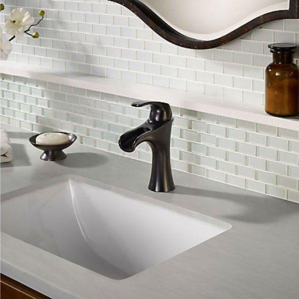 Pfister Jaida Single Control Centerset Bath Faucet Tuscan Bronze ...