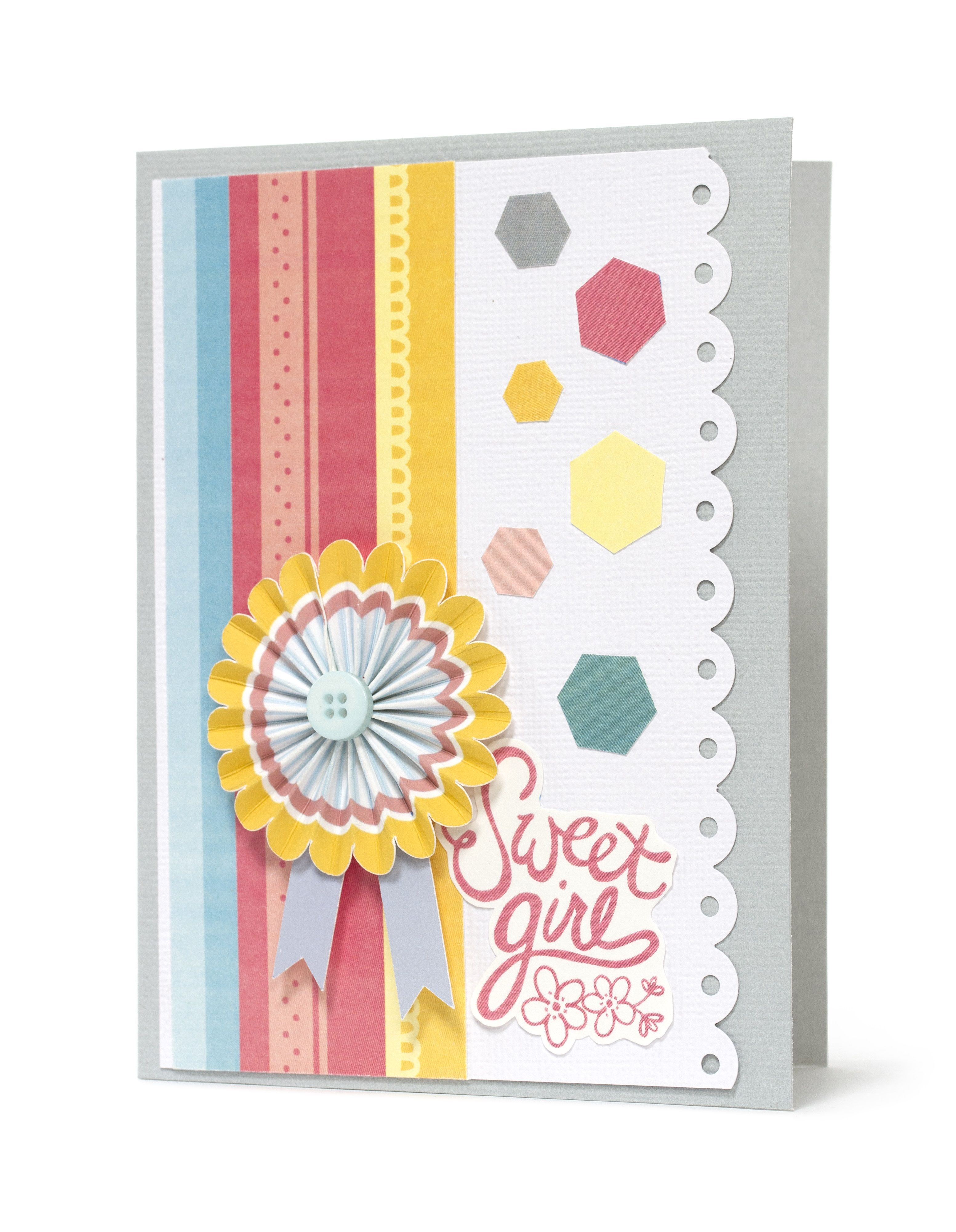 Sweet girl card inspiration from my girl collection my girl
