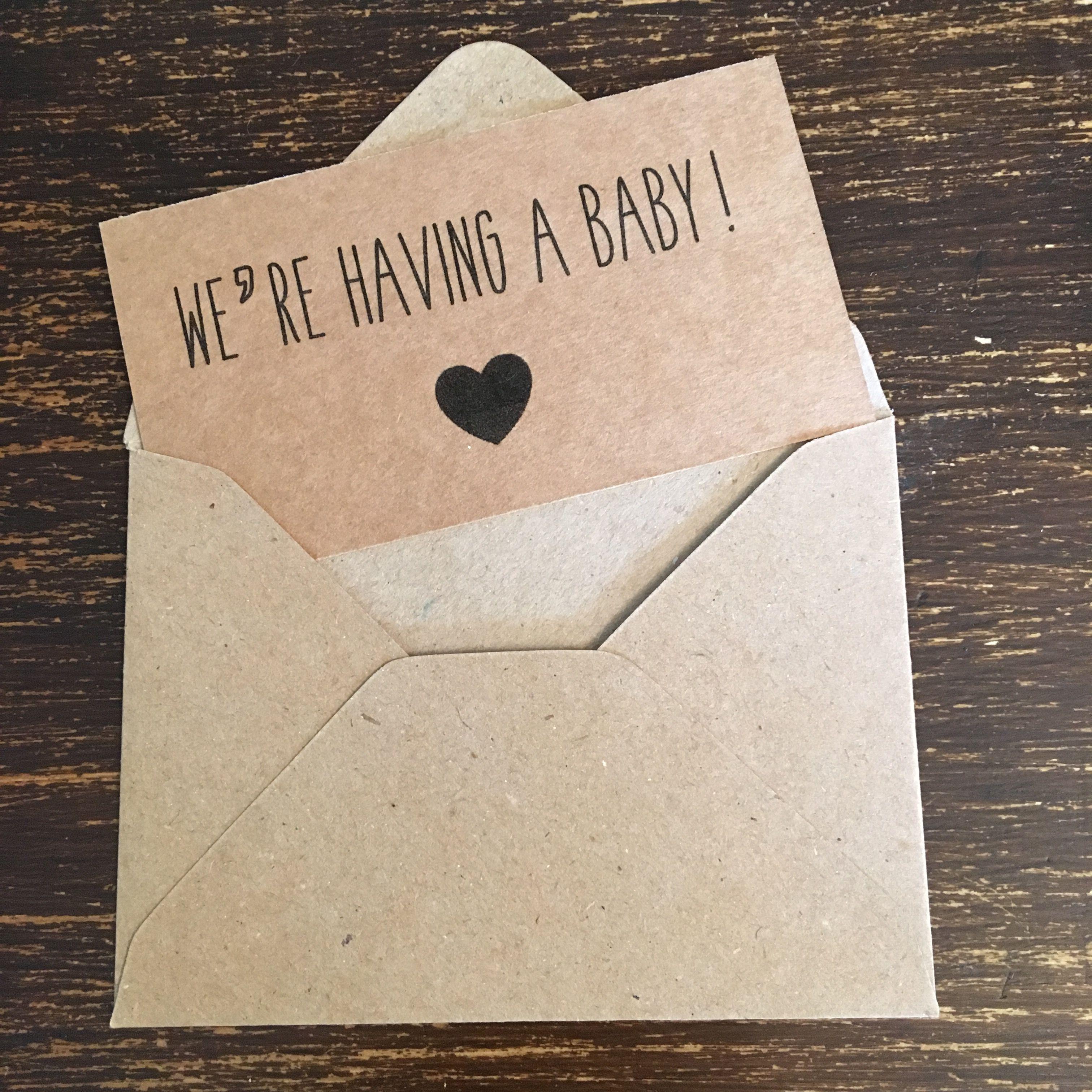 Pin di pregnancy announcement cards
