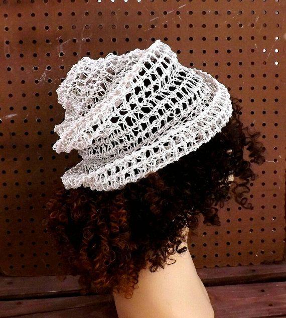 Floppy Hat Floppy Sun Hat Womens Hat Trendy Womens Crochet Hat Hemp Hat  Crochet Beanie Hat White Hat OMBRETTA Strawberry Couture by strawberrycouture by #strawberrycouture on #Etsy