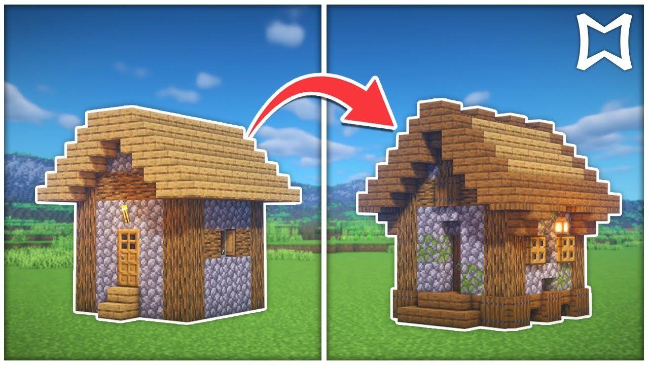 Minecraft Small Farm Village House Transformation 2 Survival Build Youtube Minecraft Cottage Minecraft Crafts Minecraft Designs