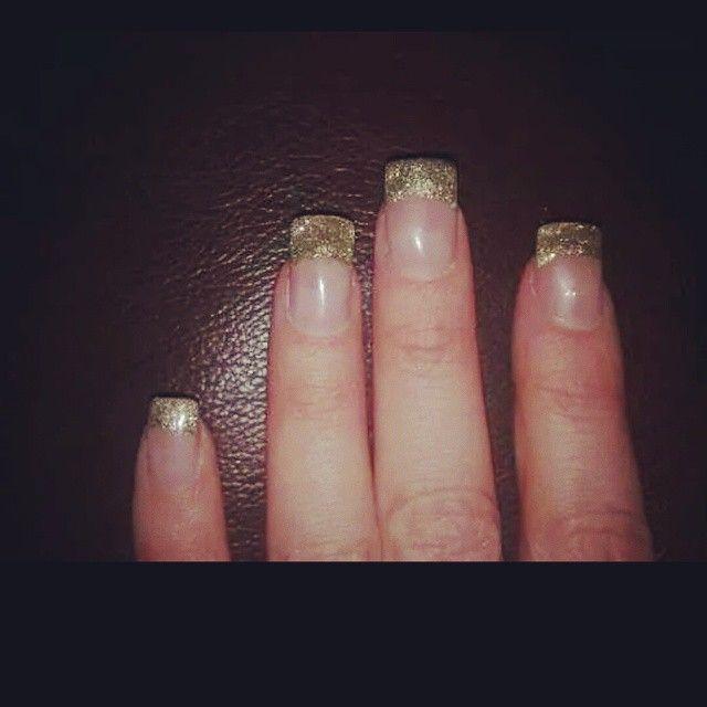 Glitter tips! #gelish #gelnails