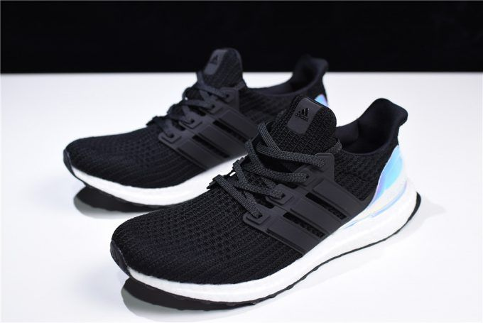 17fcfb384 New Adidas Ultra Boost 4.0 Iridescent Black White AC8067 For Sale-3