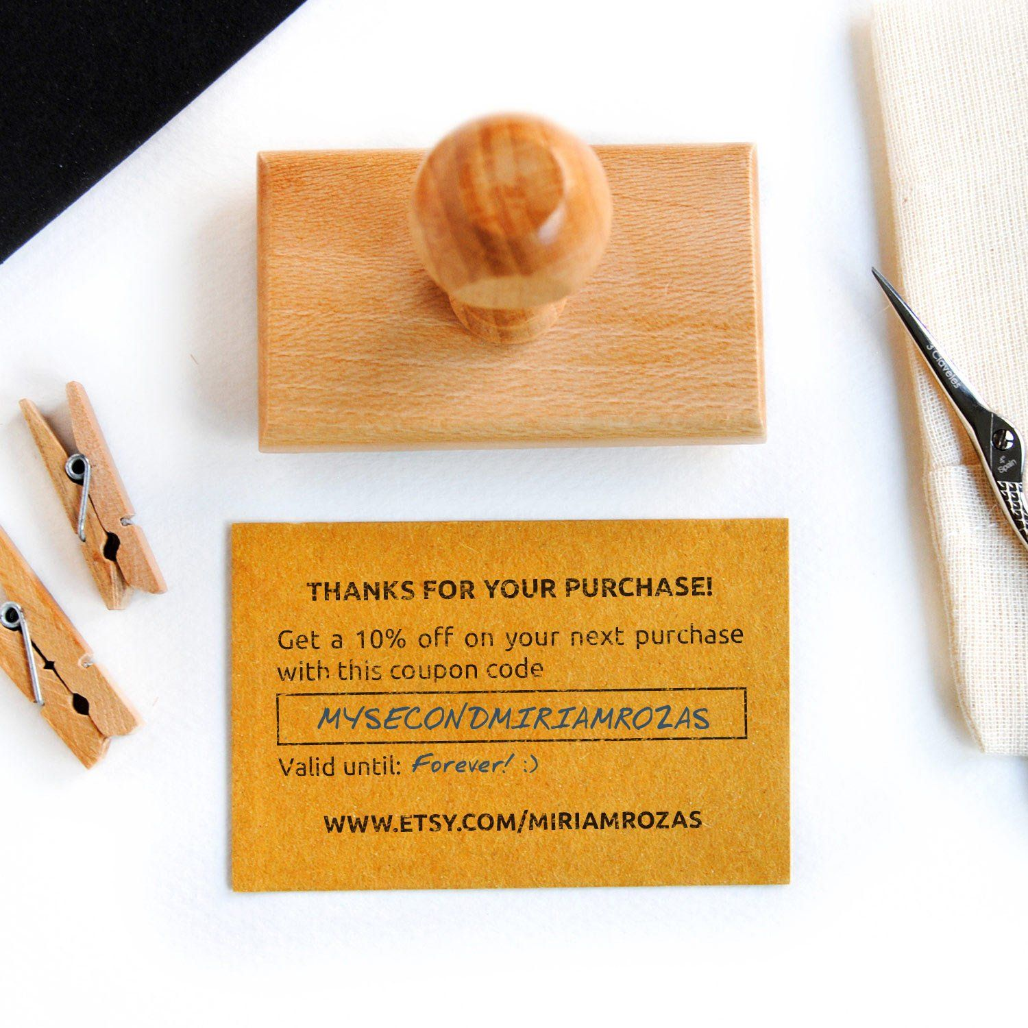 Coupon Code Stamp Custom Coupon Stamp For Shop Coupon Code Etsy In 2020 Stamped Business Cards Etsy Coupon Codes Business Stamps