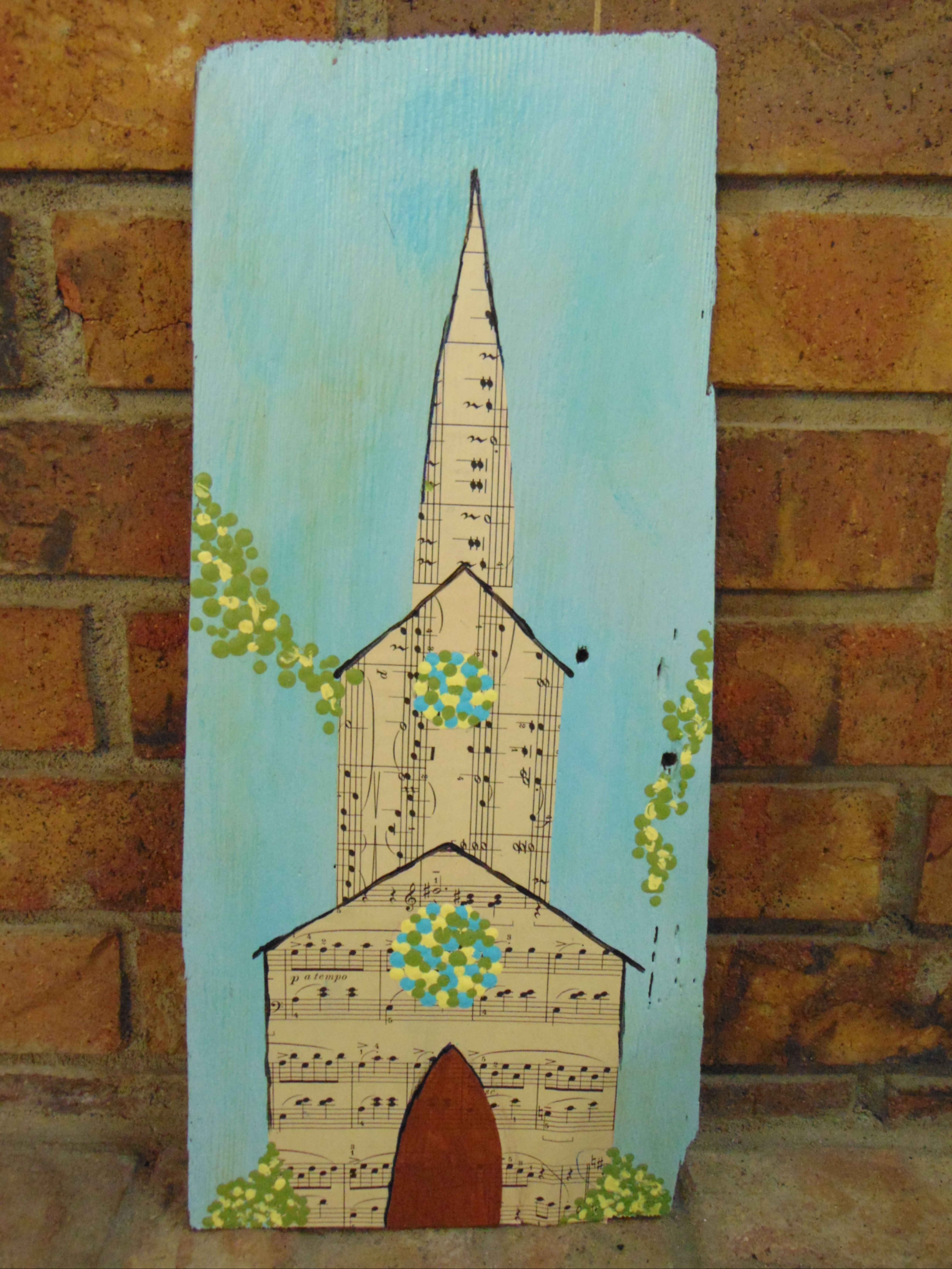 Best Repurposed Vintage Wood Shingle And Sheet Music Churches 400 x 300
