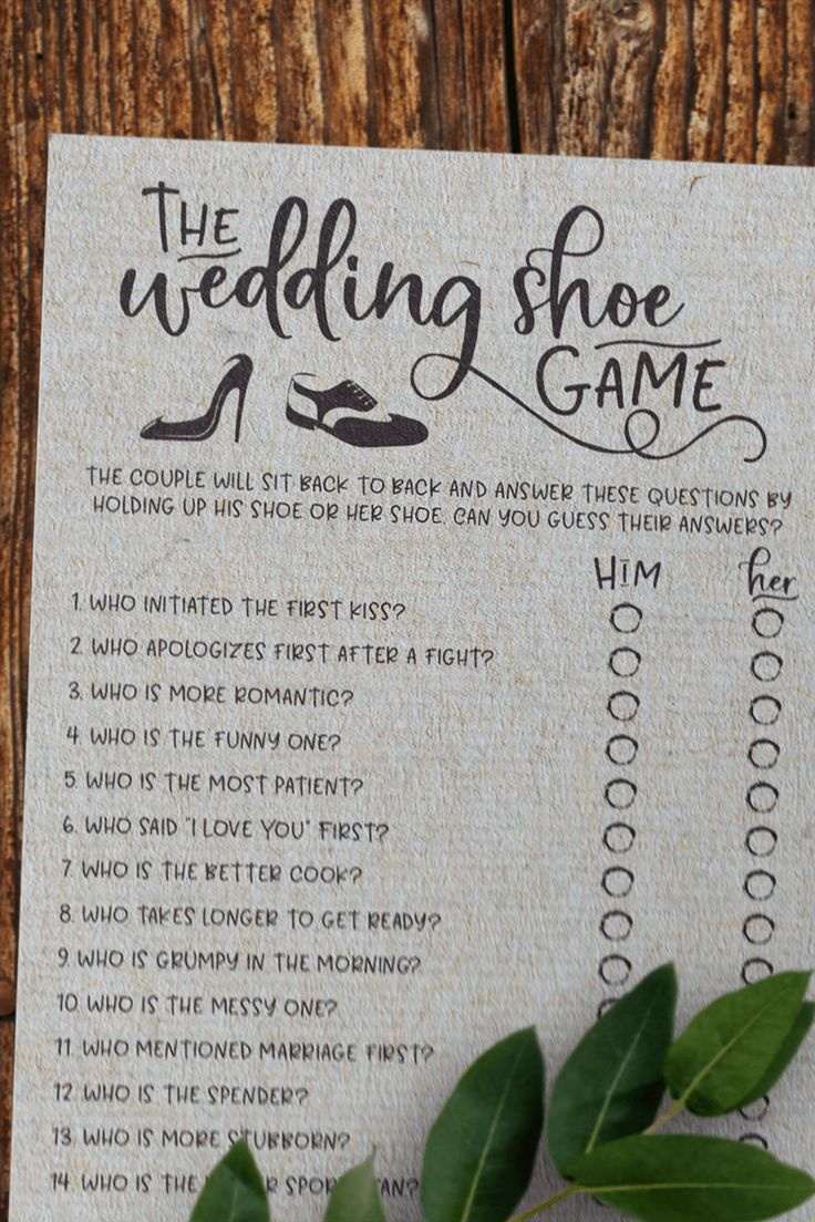 Grey Wedding Shoe Bridal Shower Game. Wedding Shoe Game . Bridal Shower Game