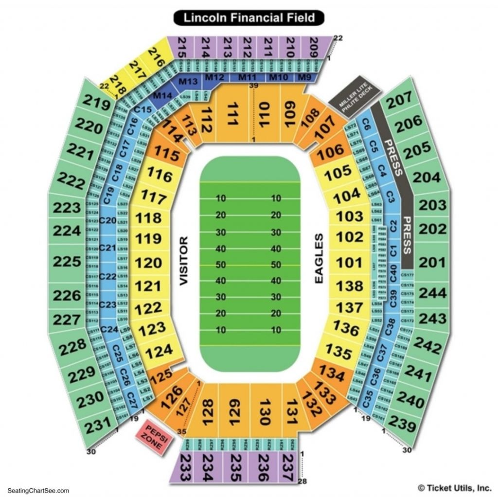 Lincoln Financial Seating Chart Lincoln Financial Field Seating Charts Chart
