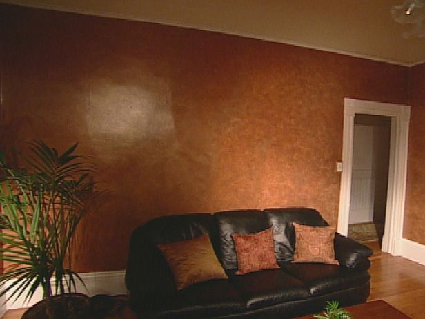 Faux finish bronzing 1 faux - What finish of paint for living room ...