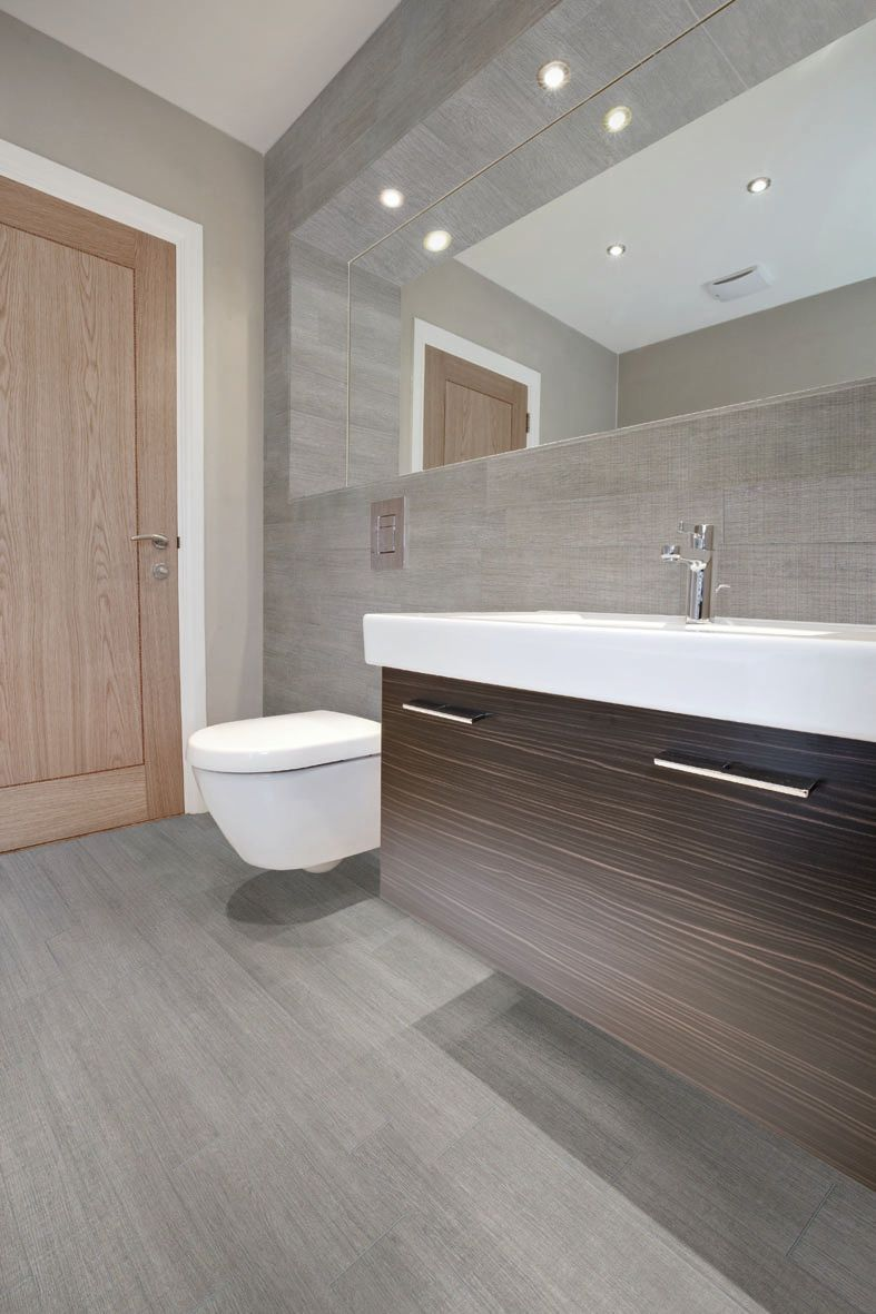 bathroom porcelain stoneware wall tile: wood look - ecowood