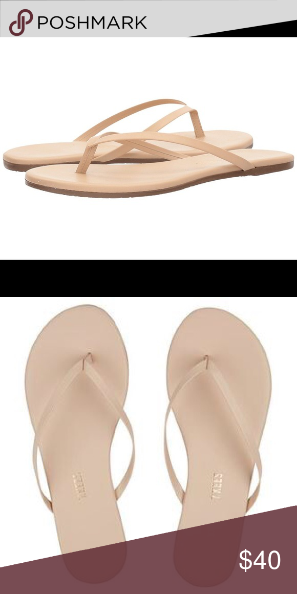 29126cd60 New Tkees Foundations Leather Flip-flops Sandals 7 New with tags and  dustbag. Ordered
