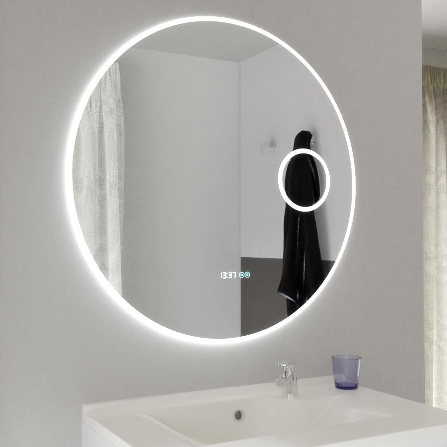 Miroir RONDINARA Ø 17cm - éclairage LED, système anti-buée