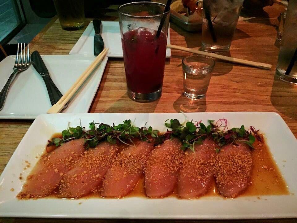 Albacore Sashimi @emcseafood #albacoresashimi #albacore #sashimi #garlicponzu #microgreens #fashionablydecadent #yummy #rawfoods #rawfish #cleaneating #healthyliving #losangeles #japanesefood #japan #foodie #instafood #foodblogger #foodblogging #foodstagram #seafood #tasteheaven by fashionablydecadent