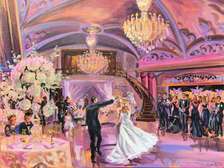 Live Painting Is the New Wedding Reception Trend You're